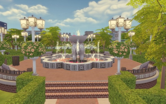 Downtown Park at Via Sims image 972 670x419 Sims 4 Updates