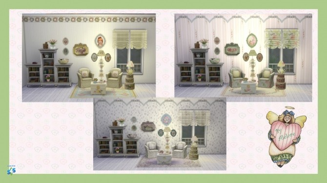 Sims 4 ROMANTIC READING NOOK SET at Alelore Sims Blog