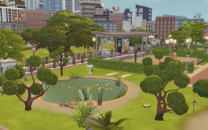 Downtown Park at Via Sims image 992 670x419 Sims 4 Updates