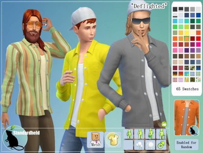 Sims 4 Deflighted Recolors of EAs top by Standardheld at SimsWorkshop