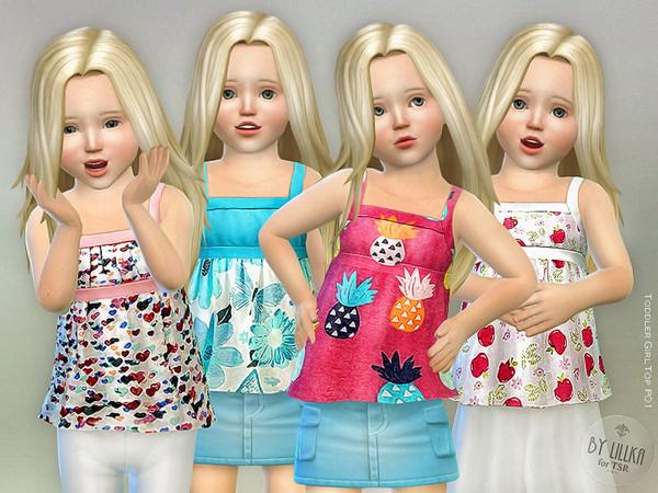 Toddler Girl Top P01 by lillka at TSR image 1020 Sims 4 Updates