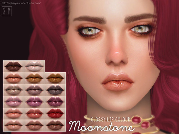 Moonstone Glossy Lip Colour by Screaming Mustard at TSR image 1026 Sims 4 Updates