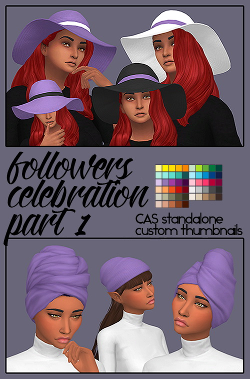 Followers Celebration Part 1 (Hats) by Sympxls at SimsWorkshop image 1035 Sims 4 Updates