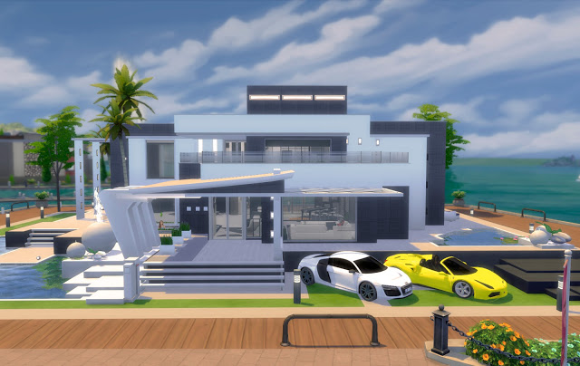 Sims 4 Ideal Ultramodern Mansion at pqSims4