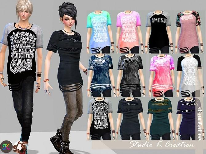 Giruto 24 Raw cut edge Tee at Studio K Creation image 10610 670x502 Sims 4 Updates
