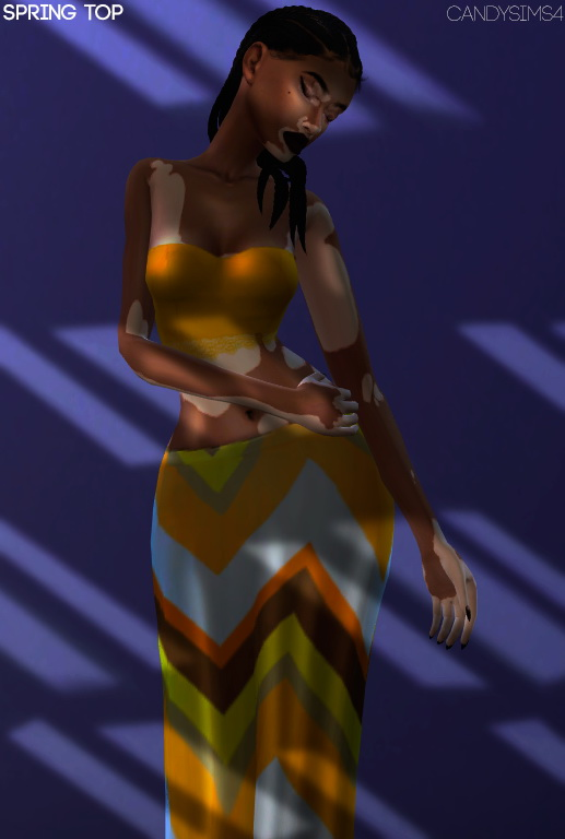 Sims 4 SPRING TOP at Candy Sims 4