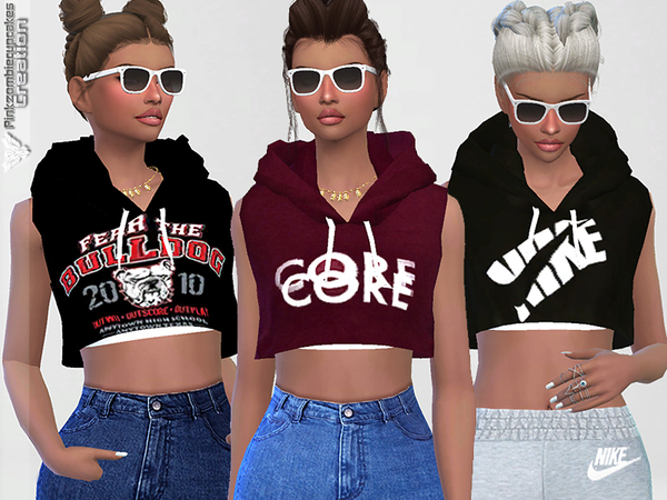 Sporty Hoodie Dreamer 010 by Pinkzombiecupcakes at TSR image 1070 Sims 4 Updates