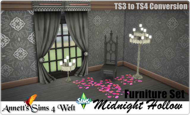 Sims 4 Midnight Hollow set TS3 to TS4 Conversion at Annett's Sims 4 Welt
