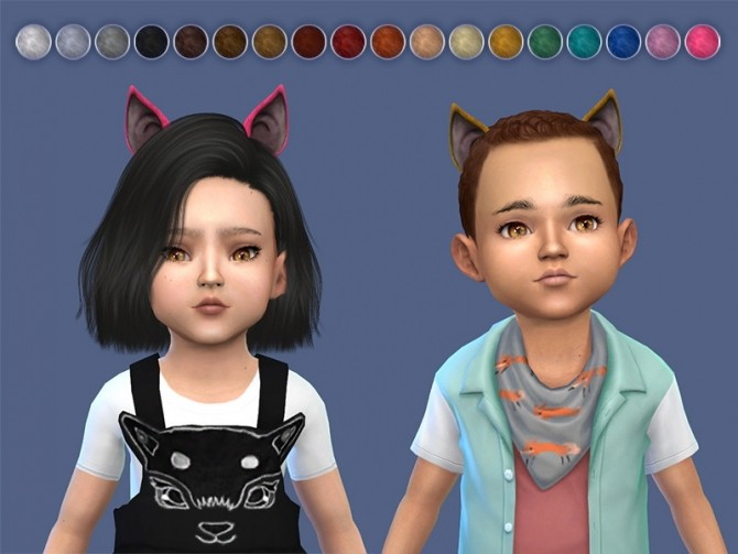 Cat Ears For Toddlers (2 variants) by Feyona at Sims 4 Studio image 1088 670x503 Sims 4 Updates