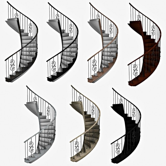Spiral Stairs at Leo Sims image 1099 670x670 Sims 4 Updates