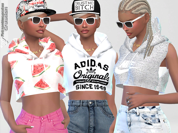 Sporty Hoodie Dreamer 010 by Pinkzombiecupcakes at TSR image 11101 Sims 4 Updates