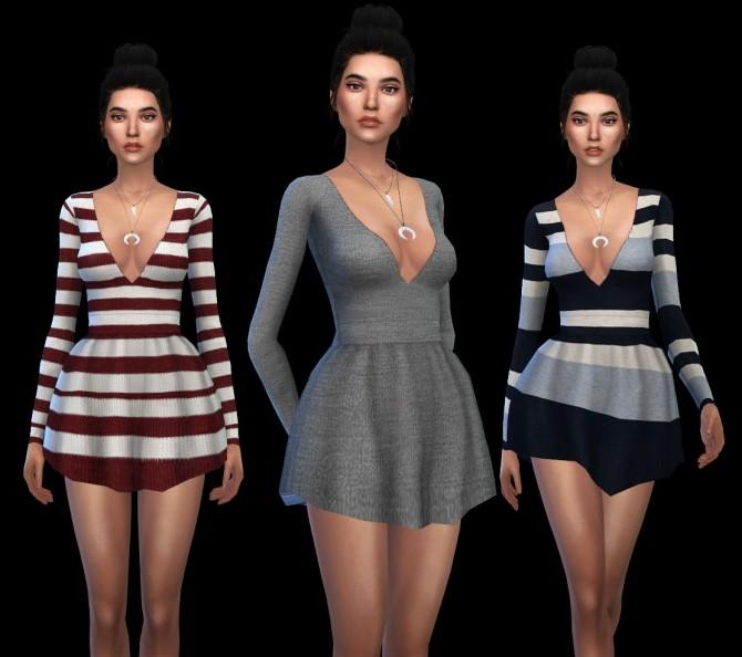 Sims 4 Leah Dress at Leo Sims