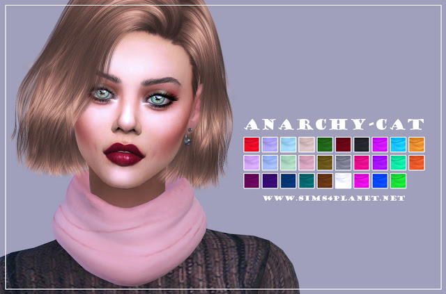 S Club Scarf recolors at Anarchy Cat image 11310 Sims 4 Updates