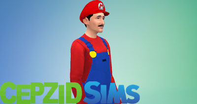 Mario Overall Outfits and Hats by cepzid at SimsWorkshop image 11314 Sims 4 Updates