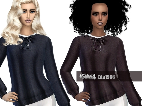 Sims 4 Lizzie Sweater by ZitaRossouw at TSR