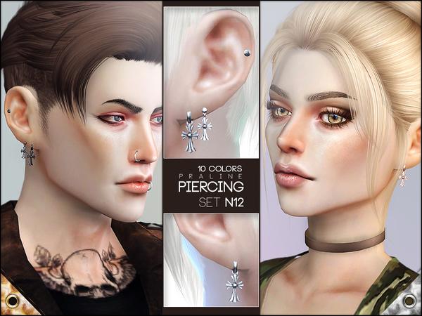 Sims 4 Piercing Set N12 by Pralinesims at TSR