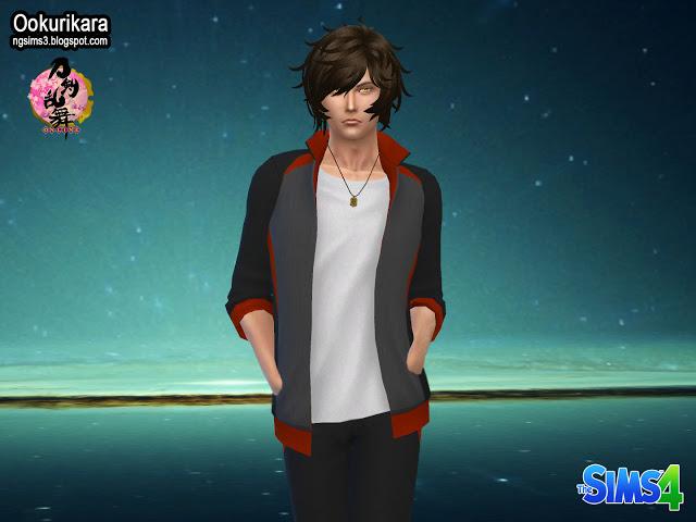 Sims 4 Shokudaikiri Mitsutada & Ookurikara at NG Sims3