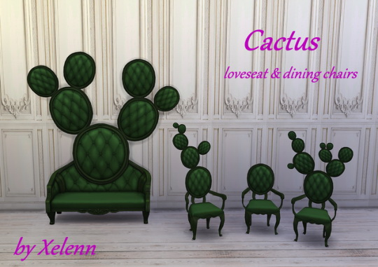 Cactus loveseat & dining chairs at Xelenn image 1143 Sims 4 Updates