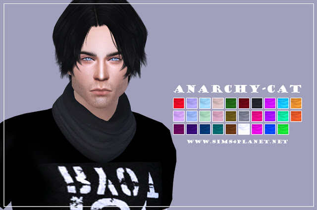 S Club Scarf recolors at Anarchy Cat image 1149 Sims 4 Updates