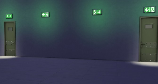 Sims 4 Recolored emergency exit lighting by 0 Positiv at Mod The Sims
