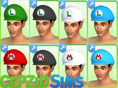 Mario Overall Outfits and Hats by cepzid at SimsWorkshop image 11512 Sims 4 Updates