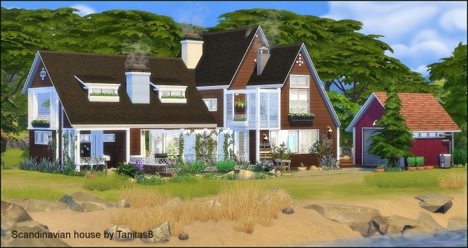 Scandinavian house at Tanitas8 Sims image 1168 670x355 Sims 4 Updates