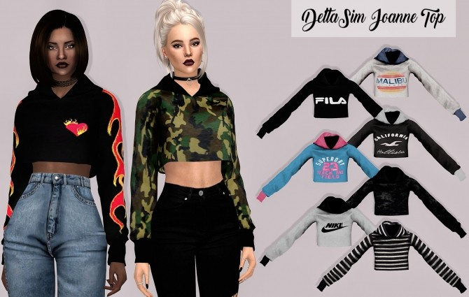 Sims 4 Deltasim Joanne Top at Lumy Sims