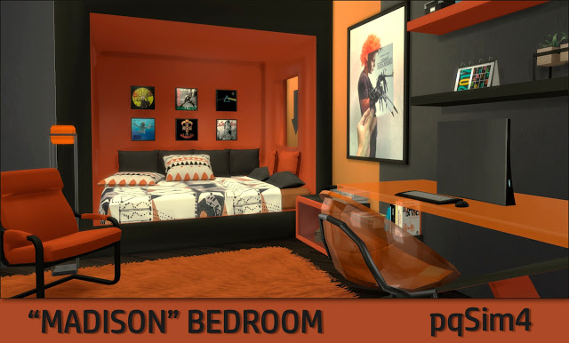 Madison Bedroom at pqSims4 image 11813 Sims 4 Updates