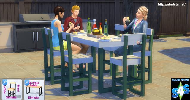 Sims 4 Buffalo Bar Setting at Simista