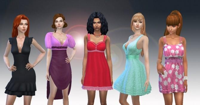 Sims 4 Female Dress Pack 2 at My Stuff