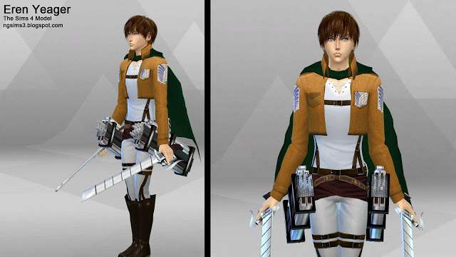 Attack on Titan Eren, Mikasa & Armin at NG Sims3 image 1209 Sims 4 Updates