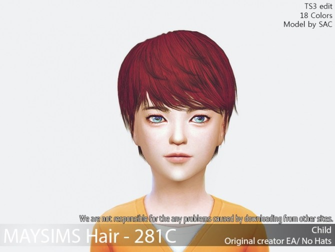 Sims 4 Hair 281C (EA) at May Sims