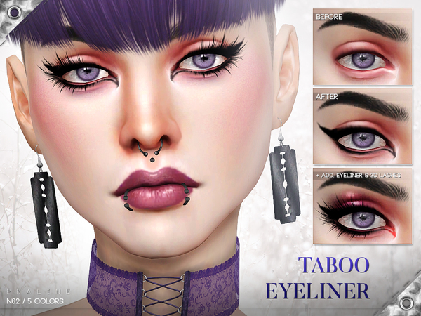 Taboo Eyeliner N62 by Pralinesims at TSR image 1212 Sims 4 Updates