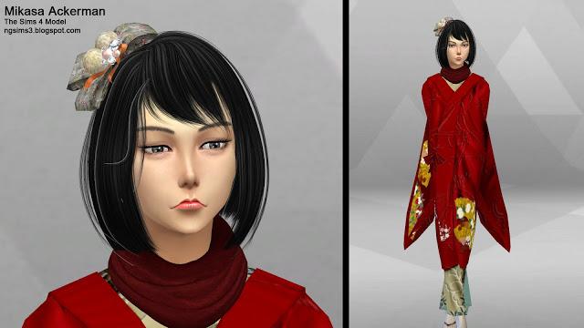 Attack on Titan Eren, Mikasa & Armin at NG Sims3 image 12212 Sims 4 Updates