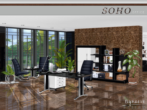 Soho Office by NynaeveDesign at TSR image 1228 Sims 4 Updates