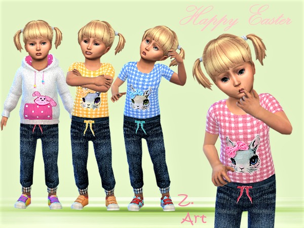Sims 4 BabeZ 13 complete outfit by Zuckerschnute20 at TSR