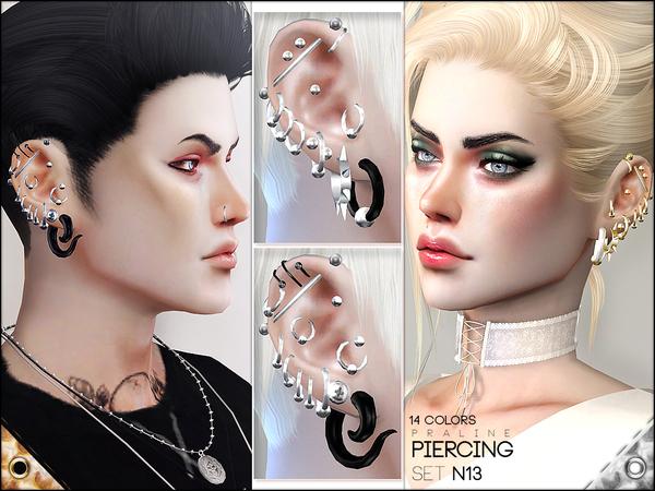 Piercing Set N13 by Pralinesims at TSR image 1230 Sims 4 Updates