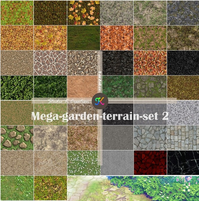 Sims 4 Mega garden terrain set 2 at Studio K Creation