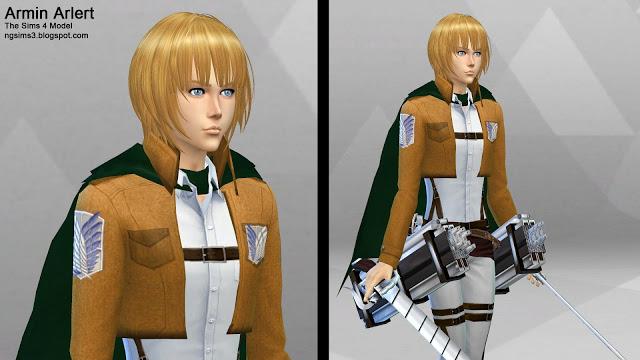 Attack on Titan Eren, Mikasa & Armin at NG Sims3 image 1239 Sims 4 Updates