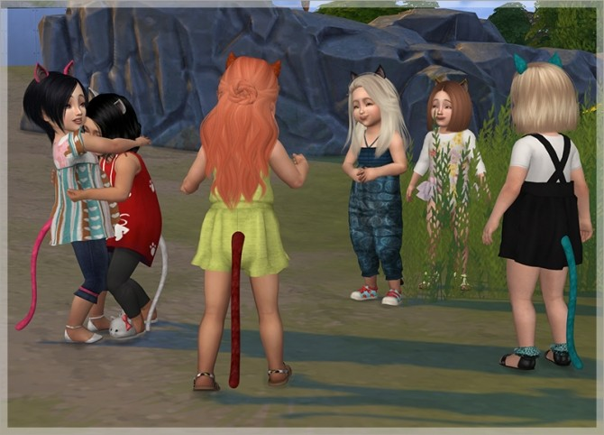 Sims 4 Kitten Tail For Toddlers Notegain Conversion by Feyona at Sims 4 Studio
