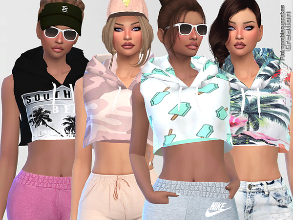 Sporty Hoodie Dreamer 010 by Pinkzombiecupcakes at TSR image 1270 Sims 4 Updates