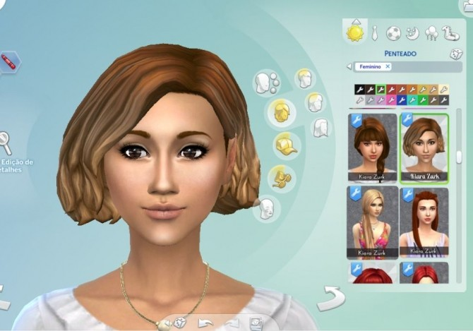 Amalia Hairstyle Ombre at My Stuff » Sims 4 Updates