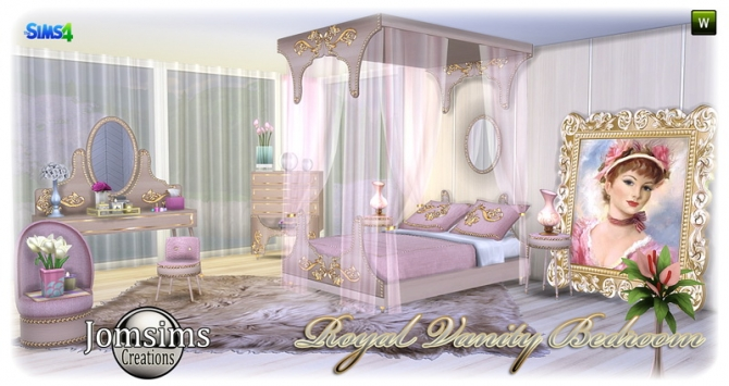 Royal Vanity Bedroom At Jomsims Creations 187 Sims 4 Updates