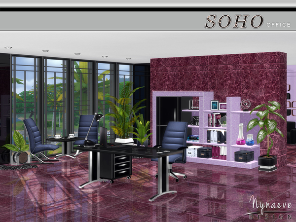 Soho Office by NynaeveDesign at TSR image 1328 Sims 4 Updates