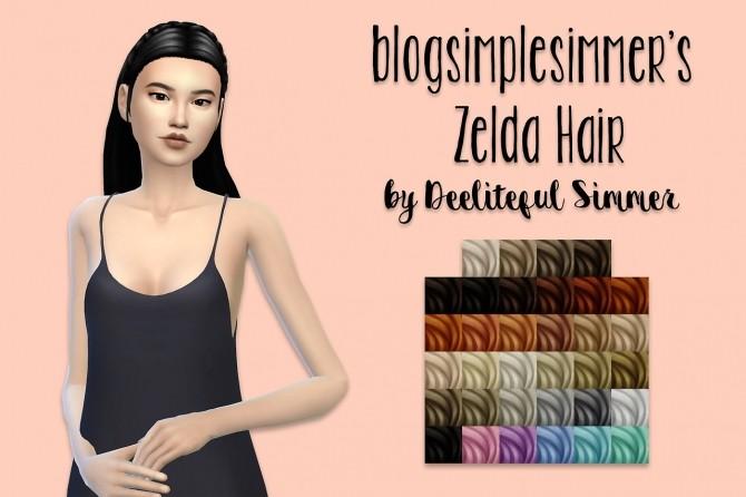 Blogsimplesimmer's Zelda hair recolors at Deeliteful Simmer image 13310 670x446 Sims 4 Updates