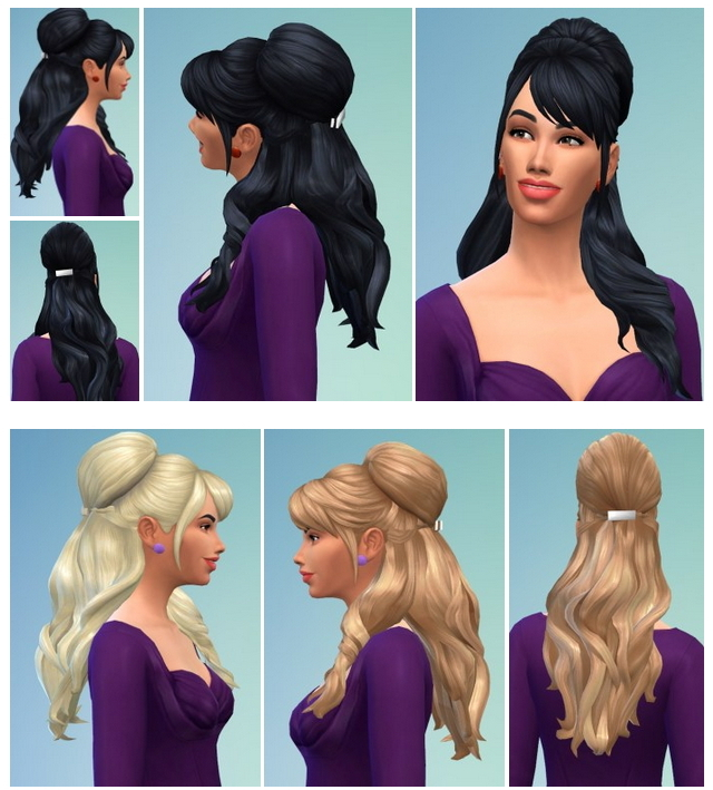 Sims 4 Brigitte Hair at Birksches Sims Blog