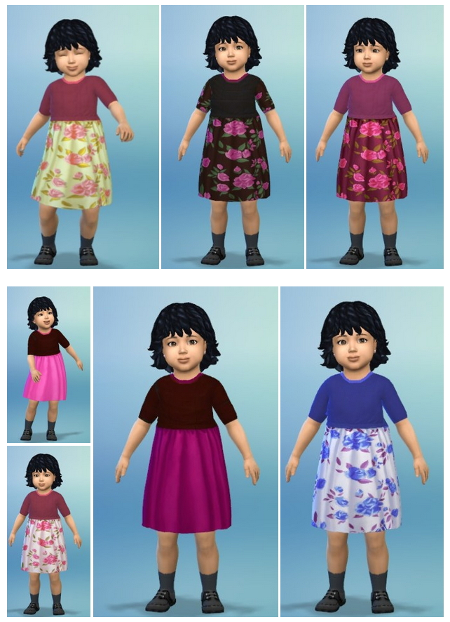 Sims 4 Flowers&Colors Dress Toddler at Birksches Sims Blog