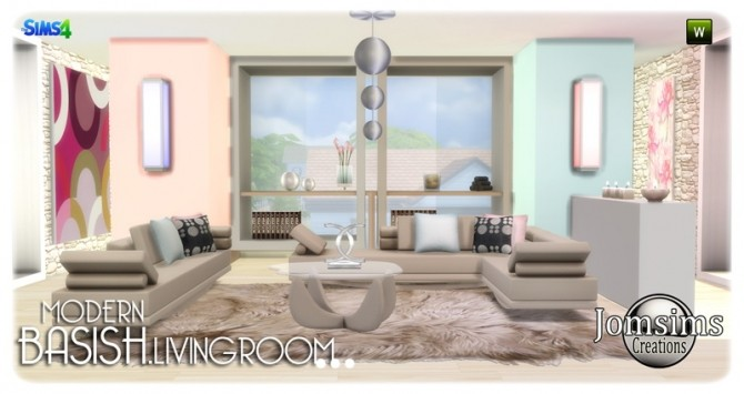 Sims 4 Basish livingroom at Jomsims Creations