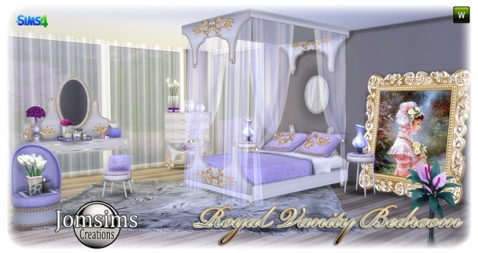 Royal Vanity bedroom at Jomsims Creations » Sims 4 Updates