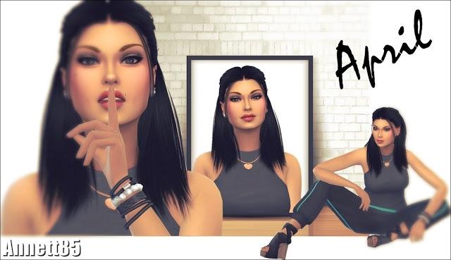 Sims 4 Model April at Annett's Sims 4 Welt